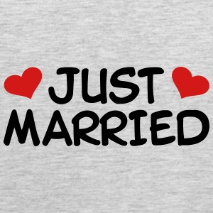 Just Married Wedding Women's T-Shirts - Men's Premium Tank