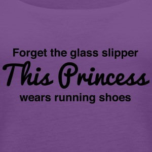 This princess wears running shoes Women's T-Shirts - Women's Premium Tank Top