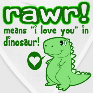 RAWR! Means I Love You in Dinosaur - Bandana