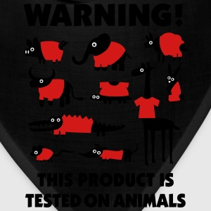 Warning! This product is tested on animals 3clr Women's T-Shirts - Bandana