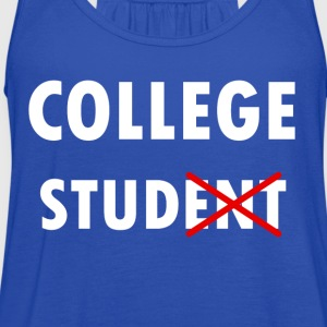 College StudENT - Women's Flowy Tank Top by Bella