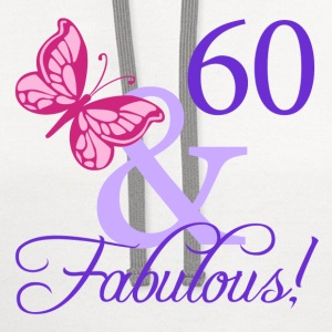 Fabulous 60th Birthday - Contrast Hoodie