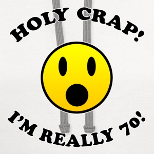 70th Birthday Gag Gift - Contrast Hoodie
