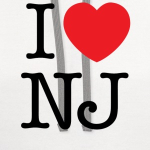 I Love New Jersey T-shirt - Contrast Hoodie