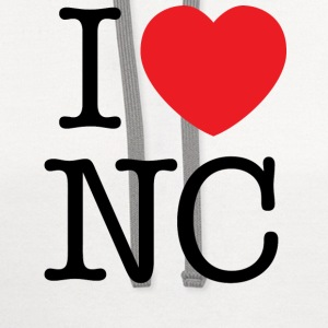 I Love North Carolina T-shirt - Contrast Hoodie