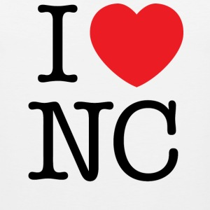 I Love North Carolina T-shirt - Men's Premium Tank