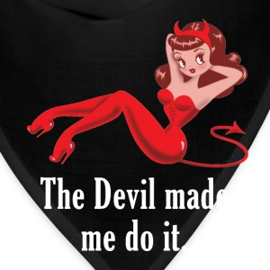 The Devil Made Me Do It Women's T-Shirts - Bandana