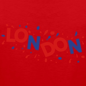 LONDON text logo Women's Fitted Classic T-shirt - Men's Premium Tank