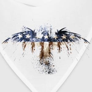 Bald Eagle US Flag Women's T-Shirts - Bandana