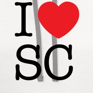 I Love South Carolina T-shirt - Contrast Hoodie