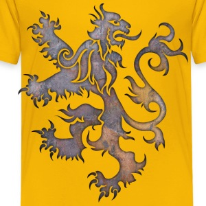 Heraldry Lion Textured Kids' Shirts - Toddler Premium T-Shirt