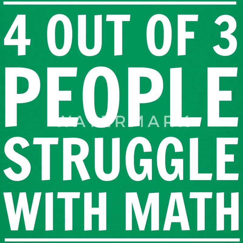 4 out of 3 People Struggle with Math Kids' Shirts - Kids' Premium T-Shirt