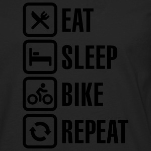 Eat sleep bike repeat  T-Shirts - Men's Premium Long Sleeve T-Shirt