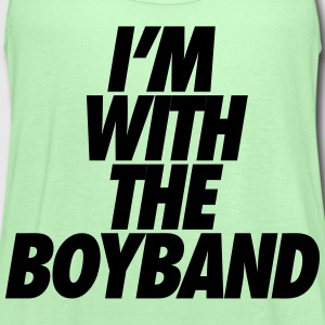 I'm With The Boy Band Kids' Shirts - Women's Flowy Tank Top by Bella