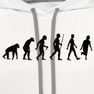 Evolution of shuffle - Contrast Hoodie