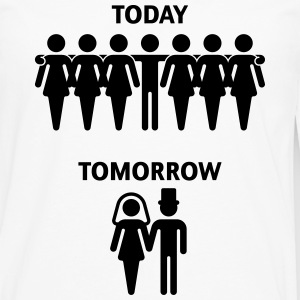 Today - Tomorrow (Stag Night / Bachelor Party) T-Shirts - Men's Premium Long Sleeve T-Shirt
