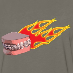 flaming braces - Men's Premium Long Sleeve T-Shirt