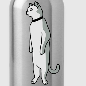 Standing cat T-Shirts - Water Bottle