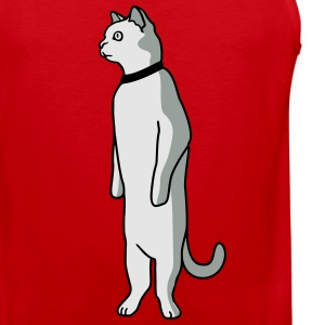 Standing cat T-Shirts - Men's Premium Tank