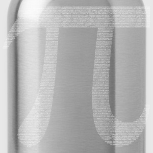 Numbers in decimals: Geometric Constant Pi T-Shirts - Water Bottle