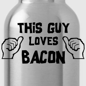 This Guy Loves Bacon T-Shirts - Water Bottle