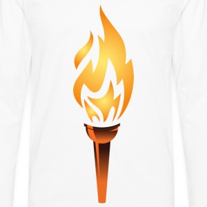 torch, olympic flame - Men's Premium Long Sleeve T-Shirt