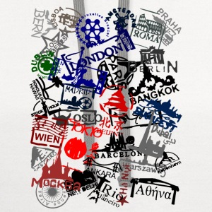 passport stamps T-Shirts - Contrast Hoodie
