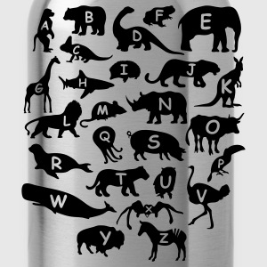alphabet animals - Water Bottle