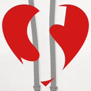I love S T-Shirt - Heart S - Heart with letter S - Contrast Hoodie