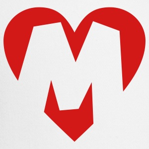 I love M T-Shirt - Heart M - Heart with letter M - Trucker Cap