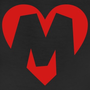 I love M T-Shirt - Heart M - Heart with letter M - Leggings