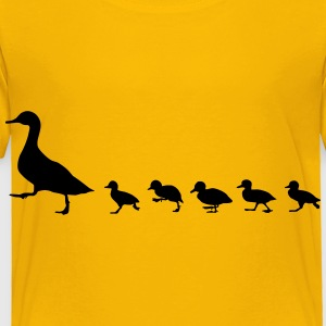 duck family, duck and ducklings Kids' Shirts - Toddler Premium T-Shirt