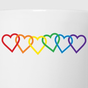 Rainbow Heart Chains Women's T-Shirts - Coffee/Tea Mug