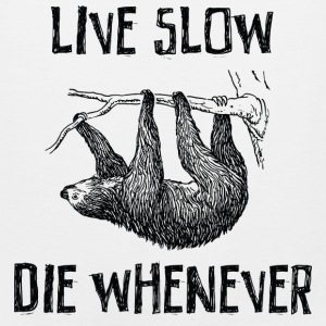 Live Slow. Die Whenever T-Shirts - Men's Premium Tank