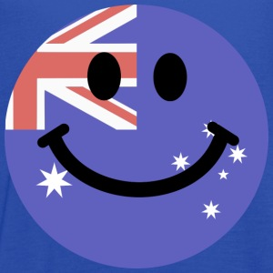 Australian flag smiley face T-Shirts - Women's Flowy Tank Top by Bella