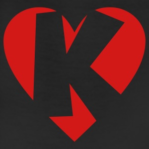 I love K T-Shirt - Heart K - Heart with letter K - Leggings