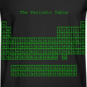 Neon green periodic table - Men's Long Sleeve T-Shirt
