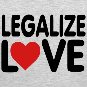 LEGALIZE LOVE T-Shirts - Men's Premium Tank