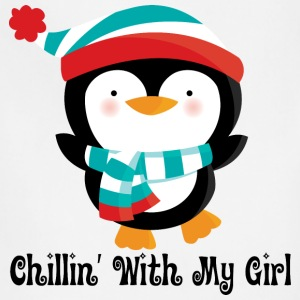 Couples Penguin Mens T-shirt (Chillin with my girl - Adjustable Apron