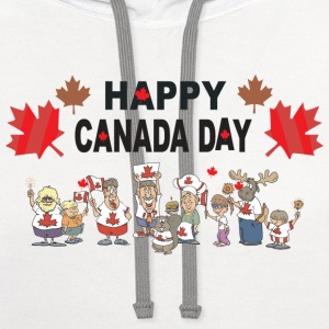 Happy Canada Day T-Shirt - Contrast Hoodie