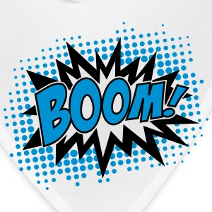 BOOM, comic, speech bubble, cartoon, balloon, dots Women's T-Shirts - Bandana