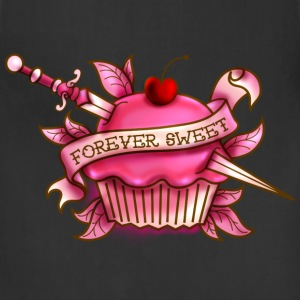 Forever Sweet Cupcake Tattoo- Pink Women's T-Shirts - Adjustable Apron