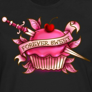 Forever Sweet Cupcake Tattoo- Pink Women's T-Shirts - Men's Premium Long Sleeve T-Shirt