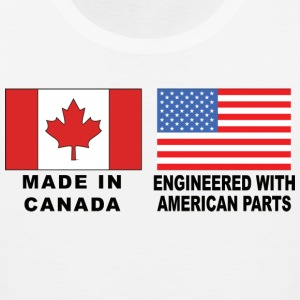 Made In Canada With American Parts T-Shirt - Men's Premium Tank