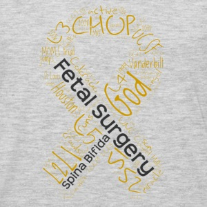 Fetal Surgery Stories Word Cloud Ribbon - Men's Premium Long Sleeve T-Shirt