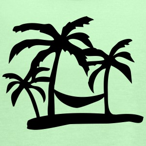 palm tree T-Shirts - Women's Flowy Tank Top by Bella