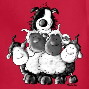 Border Collie and sheep - dog  Kids' Shirts - Adjustable Apron