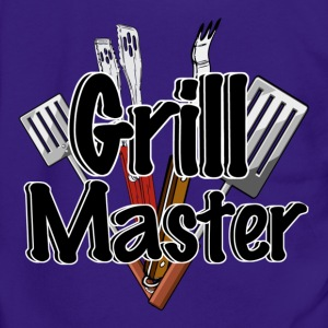 The Grill Master with BBQ Tools  - Unisex Fleece Zip Hoodie by American Apparel