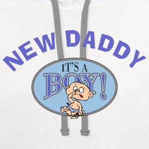 New Daddy T-Shirt - Contrast Hoodie