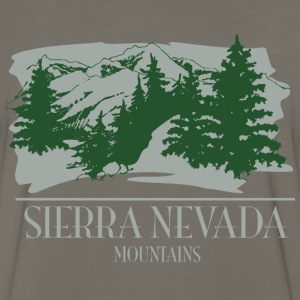 Sierra Nevada Mountain Scene T-Shirts - Men's Premium Long Sleeve T-Shirt